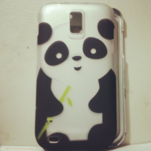 [Buy World] for Samsung Hercules T989 Galaxy S2 (T-mobile) Rubberized Design Cover - Panda 2