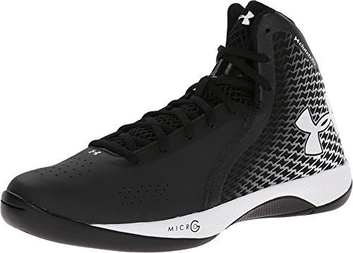 Under Armour Micro G Torch Womens Basketball Shoe (A100, Black/White)