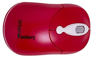 Urban Factory CM10UF Crazy Mouse Souris ergonomique 800 dpi Rouge