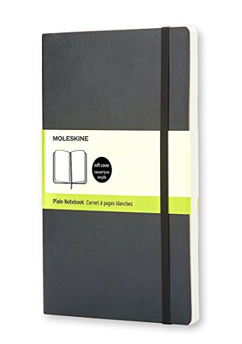 Moleskine Classic Notebook, Large, Plain, Black, Soft Cover (5 x 8.25) (Classic Notebooks)