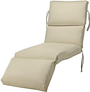 bullnose chaise outdoor cushion 4 hx23 wx80