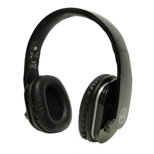 Andrea Electronics Corporation Sb-805B Cans Usb Stereo Headset With Microphone And 3D Surround Sound Recording, Black