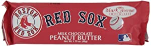 Mark Avenue Milk Chocolate Peanut Butter Bar, Red Sox, 1.75 Ounce (Pack of 24)