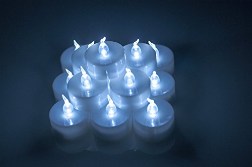 Backto20S® 18Pcs Led Tea Light Tealight Candles Unscented Flickering Flameless For Christmas Birthday Wedding Party (Cool White)