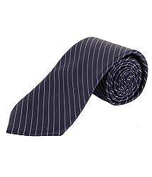 Greyon Blue Stripes Formal Regular Tie (GNA024)