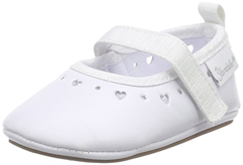 SterntalerBaby-Ballerina - Scarpine e pantofole primi passi  Bimba 0-24 , Bianco (Weiß (weiß 500)), 17/18