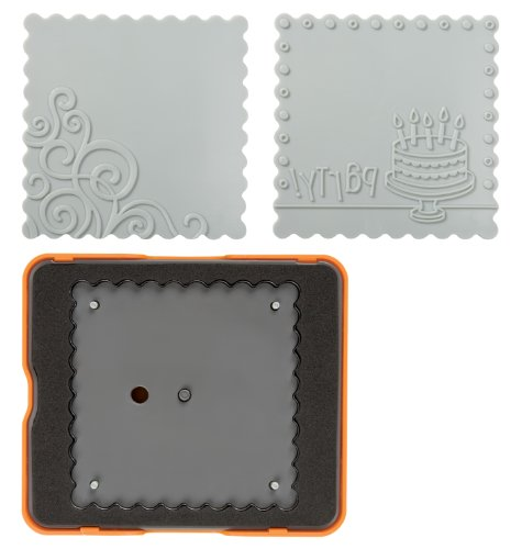 Fiskars 100810-1001 Scalloped Square Design Set, Complex Pattern, Medium (Chipboard Cutting Machine compare prices)