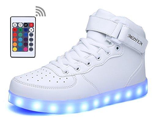 6b3527b0d8 MOHEM ShinyNight High Top LED Shoes Light Up USB Charging ...