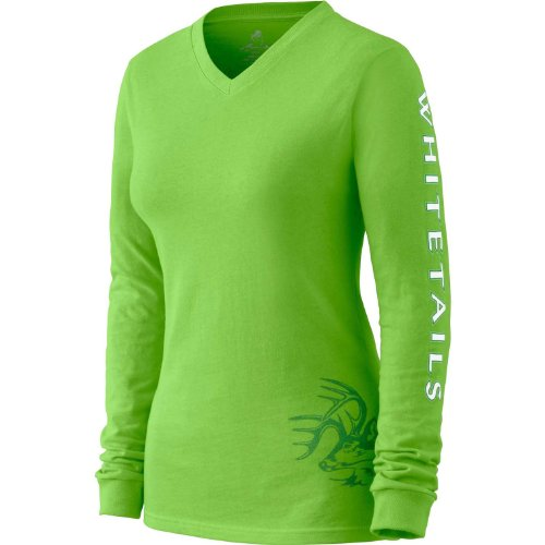 Legendary Whitetails Women'S Cotton Non-Typical Long Sleeve T-Shirt Lime X-Large