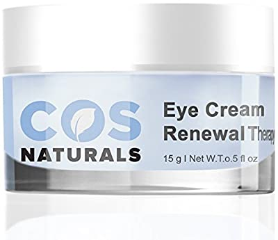 BEST EYE CREAM Renewal Therapy DERMATOLOGIST RECOMMENDED For Dark Circles Puffiness Fine Lines Wrinkles Firmness 100% Natural Organic Anti Aging Face Skin Care Gel Cucumber Vitamin C E Hyaluronic Acid