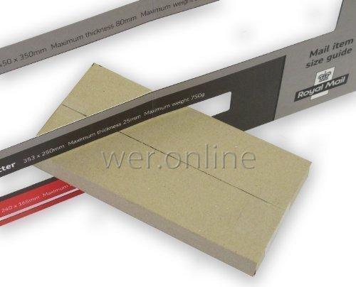 20x Lettere Posta Prioritaria Scatole da 217mm x 108mm x 20mm