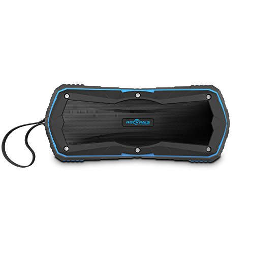 Review Rockpals Bluetooth Speaker IP65 Waterproof Stereo Dual-Driver 5W with 4000mAh Power Bank, 8 H...