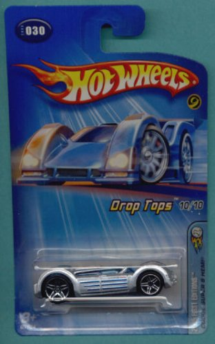 Mattel Hot Wheels 2005 Drop Tops 1:64 Scale Silver Dodge Super 8 Hemi Die Cast Car #030 - 1