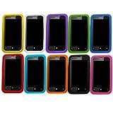 Samrick Lot de 10 coques en silicone pour Nokia Lumia 520 Bleu fonc�/bleu clair/vert//orange/blanc/rose/violet/rouge/jaune/noir