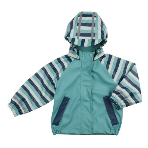 BORNINO Regenjacke Baby-Jacke Regenbekleidung, Größe 98/104, türkis