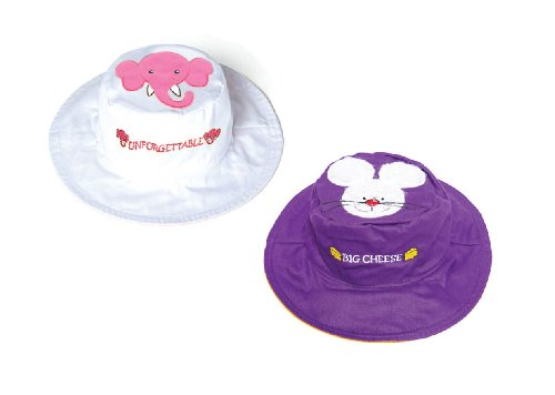 Luvali Convertibles LCKDS4SEM Elephant Mouse Reversible Kids Hat Small