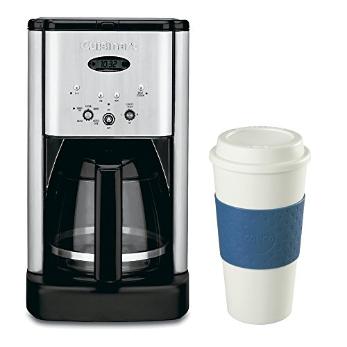 Cuisinart DCC-1200 Brew Central 12 Cup Programmable Coffeemaker & 16 Oz. Travel Mug Bundle Includes: DCC-1200 Brew Central 12 Cup Programmable Coffeemaker (Silver), and Copco 16-Ounce Acadia Reusable To Go Travel Mug - (Blue) термокружка emsa travel mug 360 мл 513351