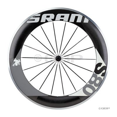 SRAM S80 Front Clincher Wheel Black Hub and Spoke