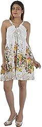 HotShot Women's Cotton V-Neck Dress (RH011, Medium)