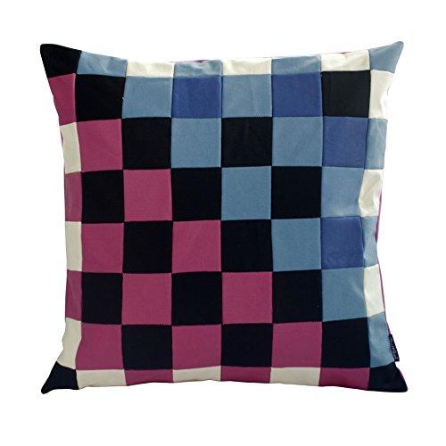 [Warm und kalt] handgemachte dekorative Kissen einzigartigen Gitterkissen 48cm