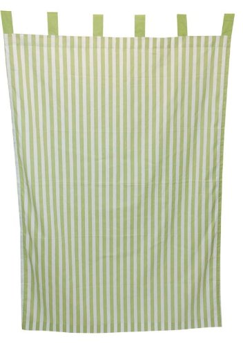 Tadpoles Stripe Curtain Panels, Set of 2, Green
