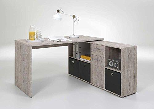 Schreibtisch-in-Sandeiche-Nachbildung-Schreibtischplatte-Mae-Tisch-BHT-ca-13674665-cm-Mae-RegalBHT-ca-1377133-cm