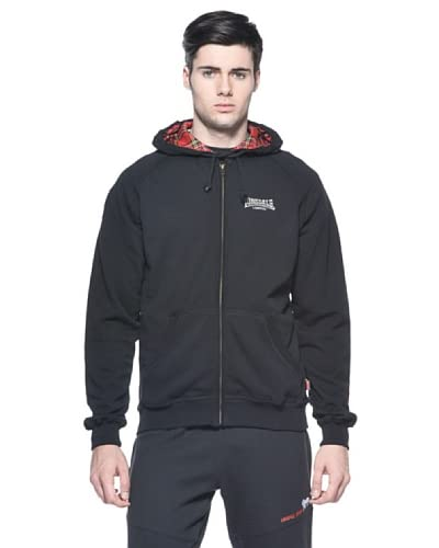 Lonsdale Men Hooded Zip Felpa [Nero]