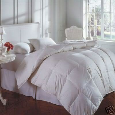 New 15.0 Tog Double Size Goose Feather & Down Duvet Quilt, 25% GOOSE DOWN With A Luxury Pure Cotton Fabric