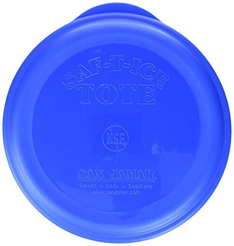 San Jamar SI6500 Saf-T-Ice Tote Snap-Tight Lid