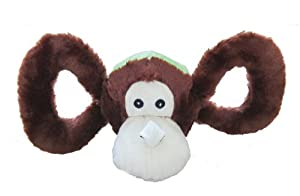Jolly Pets Tug-a-Mal Monkey Squeaky Toy for Pets, Medium