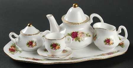 Royal Albert Old Country Roses (8 Pc) Miniature Tea Set