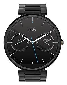Motorola Moto 360 Montre connectée Android Wear pour Appareil Android 4.3 et plus - Métal Noir