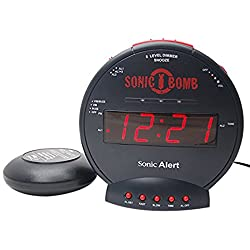 Sonic Alert SBB500ss Sonic Bomb Loud Dual Alarm Cock with Bed Shaker