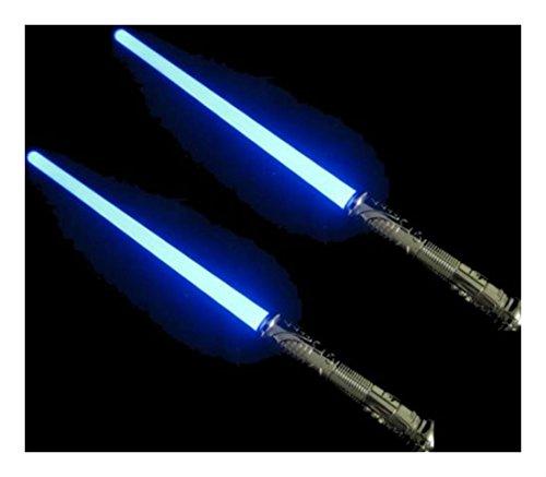 2 Led FX Style STAR WARS Lightsaber Light Saber Sword Makes Sound/Changes Color (Blue Light Sabre)