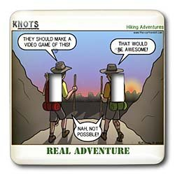 Rich Diesslin KNOTS Scout Cartoons - Knots Hiking Adventure - Real Adventure - Light Switch Covers - double toggle switch