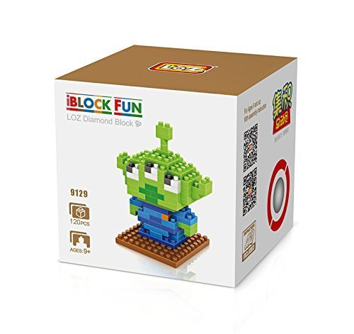 LOZ Diamond Blocks Nanoblock Toy Story Squeeze Toy Aliens Educational Toy 120pcs - 1