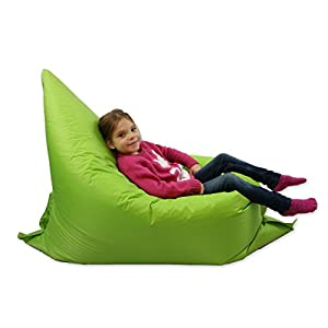 Kids BeanBag Large 6-Way Garden Lounger - GIANT Childrens Bean Bags Outdoor Floor Cushion LIME - 100% Water Resistant by Home And Garden