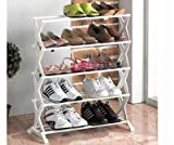 Inditradition Shoe Rack (5 Racks) Fancy / Durable With Aluminium Rod & Plastic Base / Best Home Multiutility Product