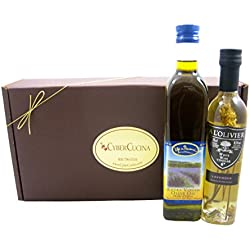 French Medley Gift Basket -- Gourmet Extra Virgin Olive Oil And Lavender Infused White Wine Vinegar (France)
