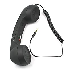 House of Quirk COCO PHONE radiation free phone 3.5mm Wired Retro Handset Receiver Anti-radiation Retro Style Handset COCO Phone with HD speaker and microphone