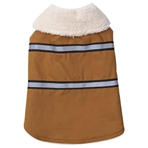 Zack & Zoey Polyester/Cotton Duck Ranch Dog Coat, XX-Small, Camel