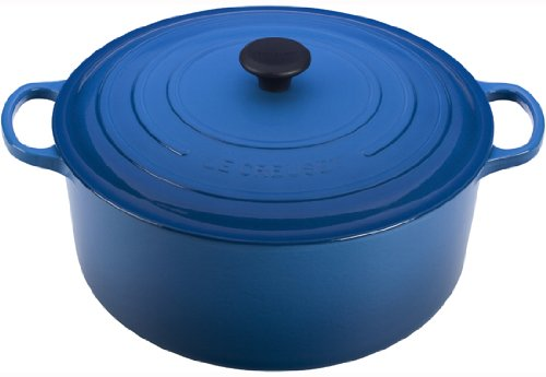 Le Creuset Signature Enameled Cast-Iron 13-1/4-Quart Round French Oven, Marseille