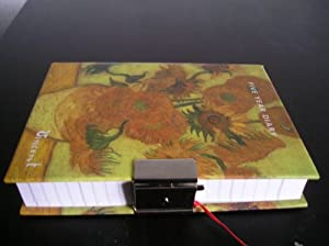5 Year Diary with Vincent Van Gogh Sunflowers Hardback Cover and Set of Keys for Privacy