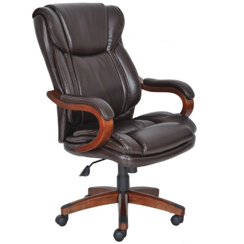 Lane Big and Tall Office Executive Chair 100% Bonded Leather Rated to 350 LBS