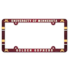 Buy Minnesota Golden Gophers Official NCAA 12x6 Plastic License Plate Frame by WinCraft