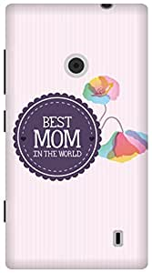 The Racoon Grip Best Mom hard plastic printed back case/cover for Nokia Lumia 520