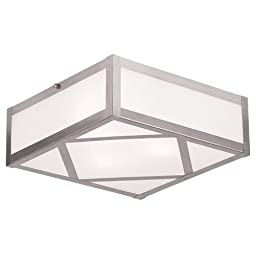 Livex Lighting 7133-91 Viper 3 Light Ceiling Mount, Brushed Nickel