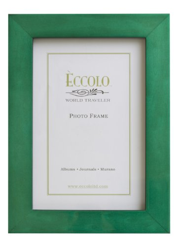 Eccolo World Traveler Burl Wood Frame, Teal, Holds a 4 x 6-Inch Photo