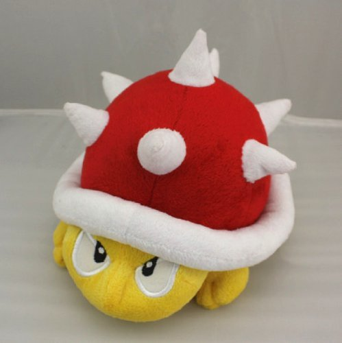 Super Mario Brother Red Spiny Spike Spinies Turtle Hedgehog Plush Doll Stuffed Toy Approx. 8""