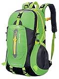 yemsy style 登山 リュック バッグ バックパック 大容量 防水 撥水 軽量 選べる カラー 山登り トレッキング ハイキング (グリーン)